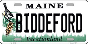 Biddeford Maine Background Wholesale Metal Novelty License Plate