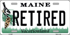 Retired Maine Background Wholesale Metal Novelty License Plate