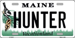 Hunter Maine Background Wholesale Metal Novelty License Plate