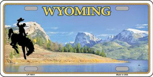 Wyoming Blank Background Wholesale Metal Novelty License Plate