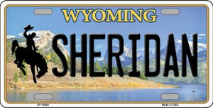 Sheridan Wyoming Background Wholesale Metal Novelty License Plate