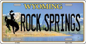 Rock Springs Wyoming Background Wholesale Metal Novelty License Plate