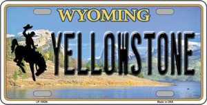 Yellowstone Wyoming Background Wholesale Metal Novelty License Plate LP-10526