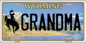 Grandma Wyoming Background Wholesale Metal Novelty License Plate