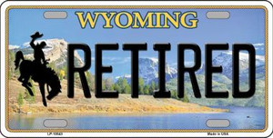 Retired Wyoming Background Wholesale Metal Novelty License Plate