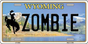 Zombie Wyoming Background Wholesale Metal Novelty License Plate