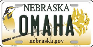 Omaha Nebraska Background Wholesale Metal Novelty License Plate