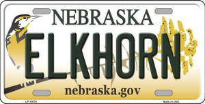 Elkhorn Nebraska Background Wholesale Metal Novelty License Plate