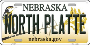 North Platte Nebraska Background Wholesale Metal Novelty License Plate