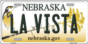La Vista Nebraska Background Wholesale Metal Novelty License Plate