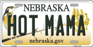 Hot Mama Nebraska Background Wholesale Metal Novelty License Plate
