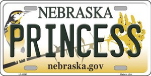Princess Nebraska Background Wholesale Metal Novelty License Plate