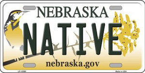 Native Nebraska Background Wholesale Metal Novelty License Plate