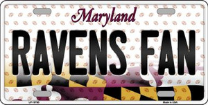 Ravens Fan Maryland Background Novelty Wholesale Metal License Plate