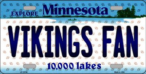 Vikings Fan Minnesota Background Novelty Wholesale Metal License Plate
