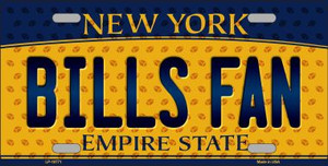 Bills Fan New York Background Novelty Wholesale Metal License Plate