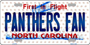 Panthers Fan North Carolina Background Novelty Wholesale Metal License Plate
