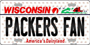 Packers Fan Wisconsin Background Novelty Wholesale Metal License Plate