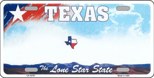 Texas New State Background Novelty Wholesale Metal License Plate