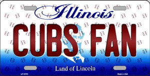 Cubs Fan Illinois Background Novelty Wholesale Metal License Plate