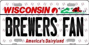 Brewers Fan Wisconsin Background Novelty Wholesale Metal License Plate