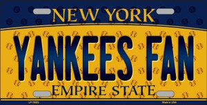 Yankees Fan New York Background Novelty Wholesale Metal License Plate