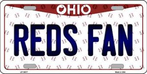 Reds Fan Ohio Background Novelty Wholesale Metal License Plate