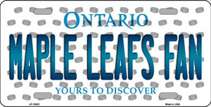 Maple Leafs Fan Ontario Background Novelty Wholesale Metal License Plate