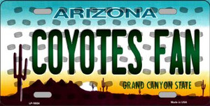Coyotes Fan Arizona Background Novelty Wholesale Metal License Plate