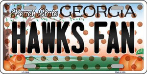 Hawks Fan Georgia Background Novelty Wholesale Metal License Plate