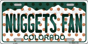 Nuggets Fan Colorado Background Novelty Wholesale Metal License Plate