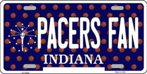 Pacers Fan Indiana Background Novelty Wholesale Metal License Plate
