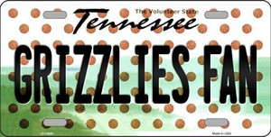 Grizzlies Fan Tennessee Background Novelty Wholesale Metal License Plate