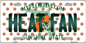 Heat Fan Florida Background Novelty Wholesale Metal License Plate