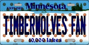 Timberwolves Fan Minnesota Background Novelty Wholesale Metal License Plate