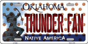 Thunder Fan Oklahoma Novelty Wholesale Metal License Plate