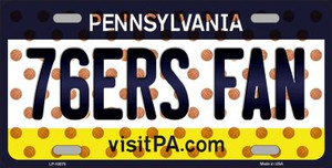 76ERS Fan Pennsylvania Novelty Wholesale Metal License Plate