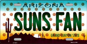 Suns Fan Arizona Novelty Wholesale Metal License Plate