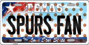 Spurs Fan Texas Novelty Wholesale Metal License Plate