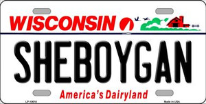 Sheboygan Wisconsin Background Wholesale Metal Novelty License Plate