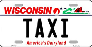 Taxi Wisconsin Background Wholesale Metal Novelty License Plate