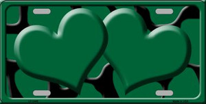 Green Black Giraffe Print With Centered Hearts Wholesale Novelty License Plate