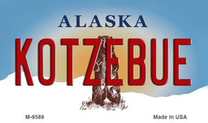 Kotzebue Alaska State Background Wholesale Novelty Metal Magnet