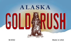 Gold Rush Alaska State Background Wholesale Novelty Metal Magnet