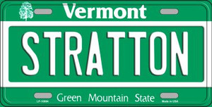Stratton Vermont Background Wholesale Metal Novelty License Plate