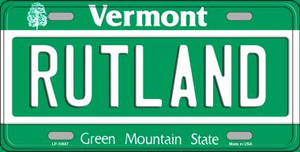 Rutland Vermont Background Wholesale Metal Novelty License Plate