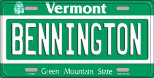 Bennington Vermont Background Wholesale Metal Novelty License Plate