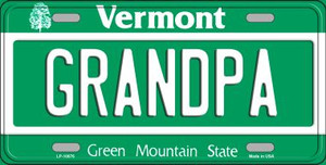 Grandpa Vermont Background Wholesale Metal Novelty License Plate