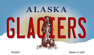 Glaciers Alaska State Background Wholesale Novelty Metal Magnet