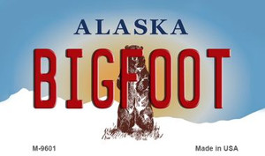 Bigfoot Alaska State Background Wholesale Novelty Metal Magnet